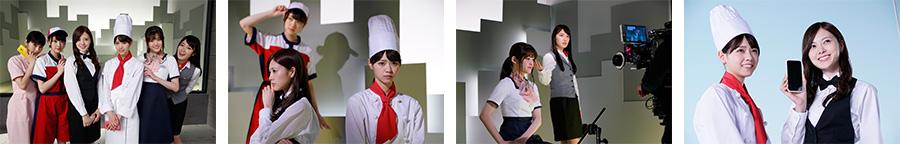 バイトルTVCM「かわいい制服」篇 メイキング
