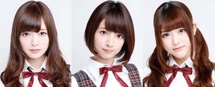 (左から)乃木坂46の白石麻衣、橋本奈々未、松村沙友理