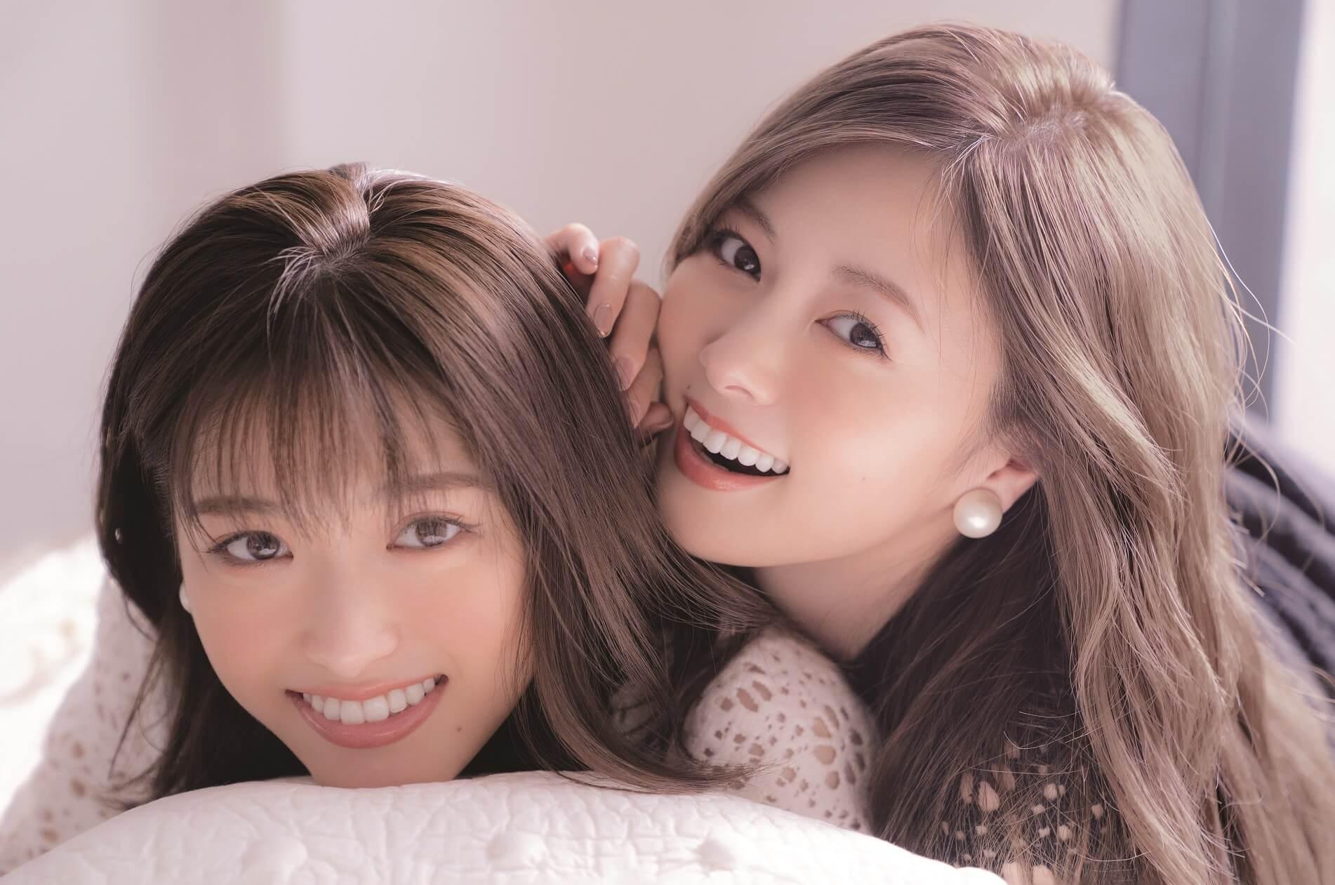 白石麻衣&松村沙友理A3大のピンナップポスター(小学館「CanCam」2019年1月号)