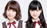 乃木坂46の衛藤美彩(左)と堀未央奈(右)