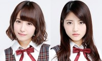 乃木坂46の衛藤美彩(左)と若月佑美(右)