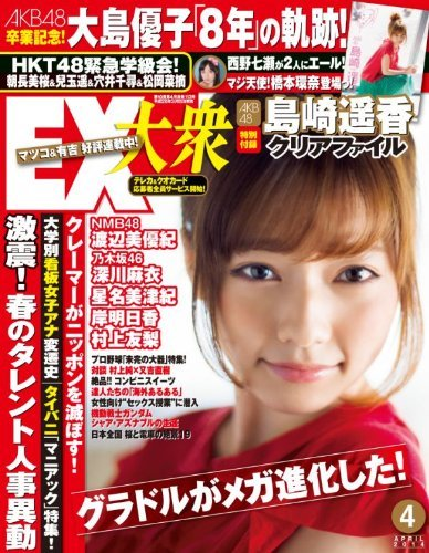 EX大衆4月号に乃木坂46深川麻衣の本誌初ソログラビア