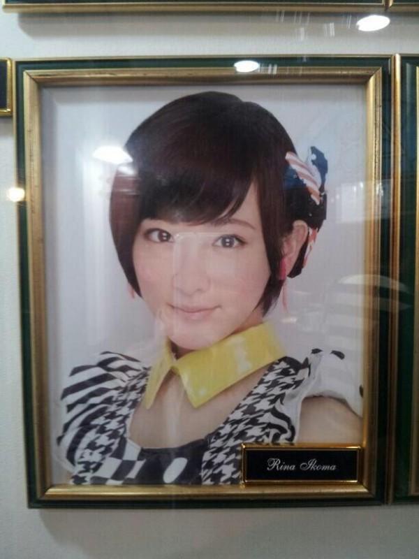 AKB48劇場にチームB兼任、生駒里奈の壁掛け写真を掲示