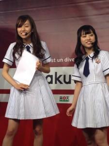 イベントに出演した新内眞衣(左)と伊藤寧々(右)