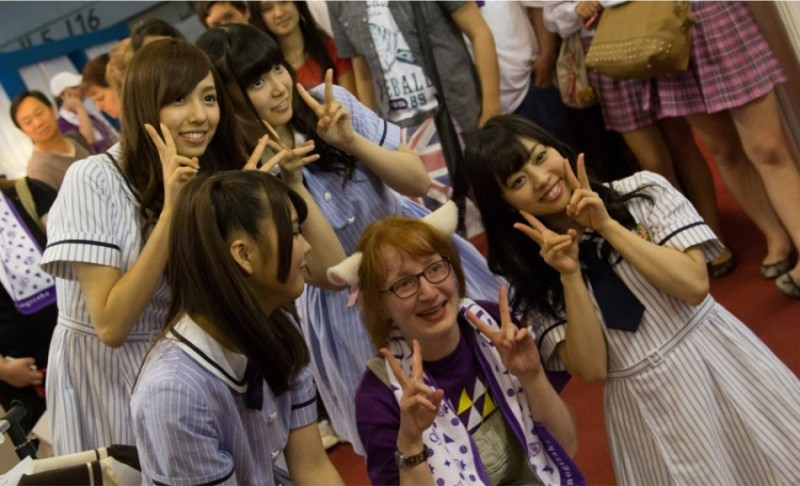 川後陽菜と中元日芽香もジャパンエキスポに参加、海外のファンと交流
