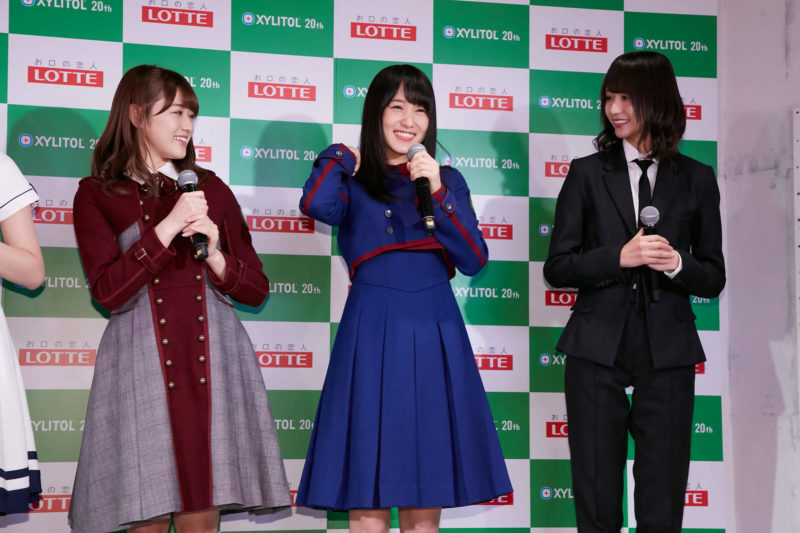 「欅坂46 UNIFORM MUSEUM supported by XYLITOL20th」開催記念イベント(守屋茜、菅井友香、土生瑞穂)