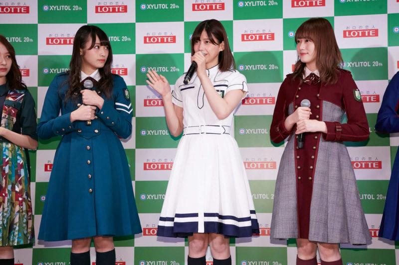 「欅坂46 UNIFORM MUSEUM supported by XYLITOL20th」開催記念イベント(渡辺梨加、渡邉理佐、守屋茜)