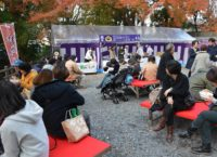 京都吉兆フードブースの様子(「KYOTO NIPPON FESTIVAL」京都・北野天満宮)
