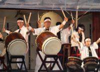 神若会による和太鼓演奏の様子(「KYOTO NIPPON FESTIVAL」京都・北野天満宮)