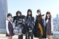 劇場版 魔法少女まどか☆マギカ[新編]叛逆の物語のテレビCMに出演した、(左から)生駒里奈、生田絵梨花、松村沙友理、白石麻衣、西野七瀬