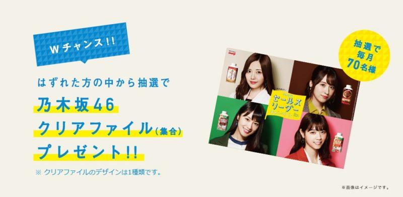 「乃木坂46セールスリーダーレシートキャンペーン」Wチャンス(乃木坂46クリアファイル)