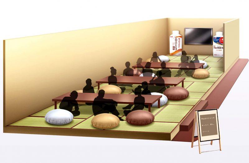 「食神さまの不思議なレストラン」展に明治特設スペースが登場 乃木坂46の胸キュン動画を放映
