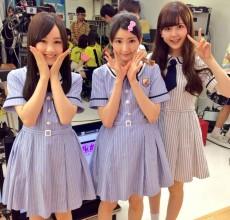 「生のアイドルが好き」第15回に出演した星野みなみ、井上小百合、大和里菜(左から)