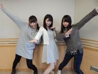 乃木坂46の「の」第50回に出演した(左から)川後陽菜、井上小百合、伊藤万理華