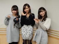(左から)乃木坂46の「の」第51回に出演した川後陽菜、新内眞衣、斉藤優里