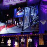 金川紗耶はバスケットボールのロングシュートを一発で成功(「乃木坂46 4期生お見立て会」)