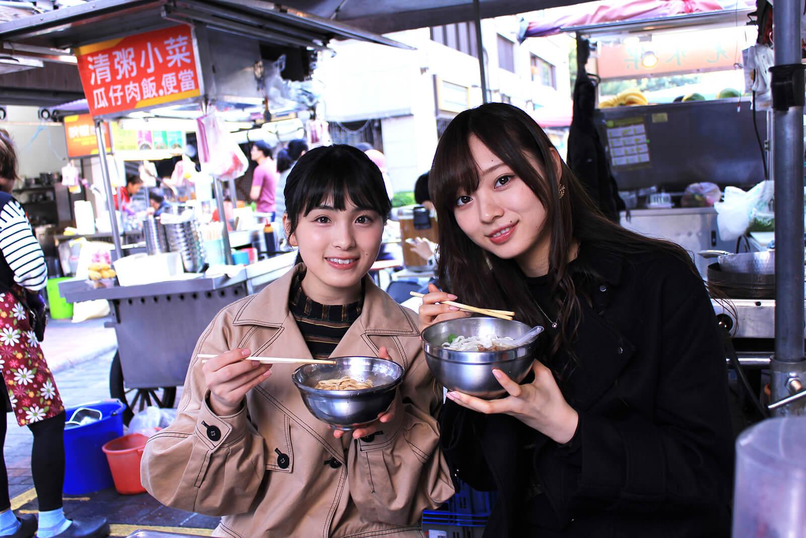大園桃子と梅澤美波が台北に滞在した模様に密着(MUSIC ON! TV「乃木坂46 meets Asia! ~台北ver.~」)