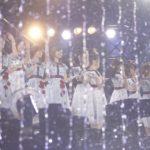 噴水越しの乃木坂46(「乃木坂46 真夏の全国ツアー2018」ひとめぼれスタジアム宮城公演)