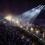 『君の名は希望』では会場一面が紫色のペンライトに(「乃木坂46 真夏の全国ツアー2018」ひとめぼれスタジアム宮城公演)