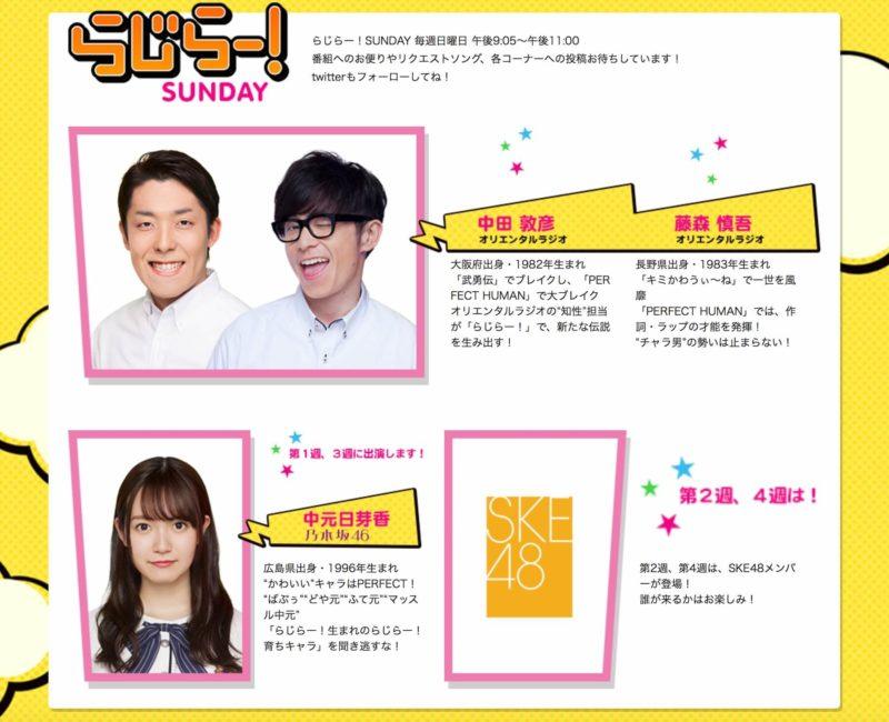 NHKラジオ第1「らじらー!SUNDAY」
