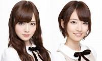 乃木坂46の白石麻衣(左)と橋本奈々未(右)