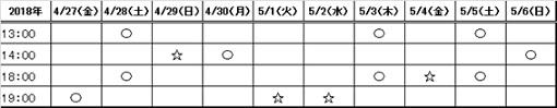 舞台「若様組まいる〜アイスクリン強し〜」公演スケジュール