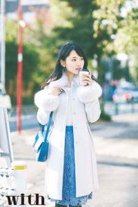 菅井友香(講談社「with」2018年2月号・もし、欅坂46がOLだったなら……)
