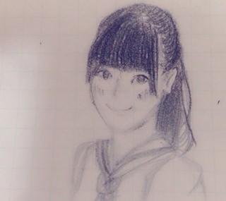 乃木坂46の山崎怜奈が描いた伊藤純奈